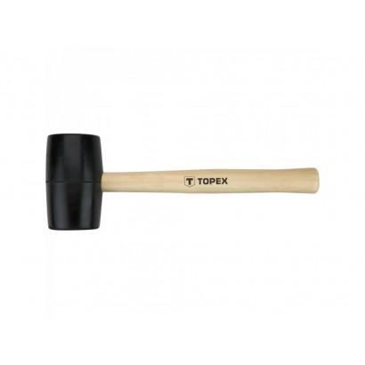 Киянка резиновая  900гр/Ø 72 мм рукоятка/дерево Topex