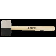 Киянка резиновая  680гр/Ø 63 черно-белая резина  рукоятка/дерево Topex