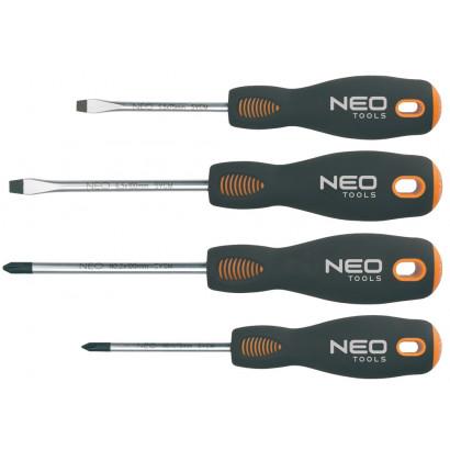 Набор отверток  4пр. двухкомп/ручка NEO сталь S2 блистер гарант 25 лет