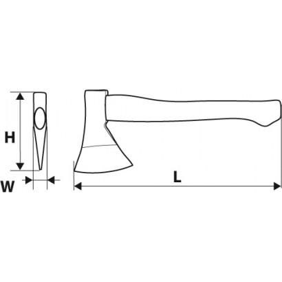 Топор универсальный  600гр дерев/ручка 360мм Topex