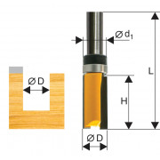 Фреза по дереву кромочная прямая ф12.7х26 твердосплав ц/хв 8 ЭНКОР бокс