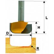 Фреза по дереву пазовая фасонная ф28.6х13 R5.0 твердосплав ц/хв 8 ЭНКОР бокс