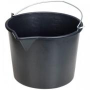Ведро строительное 16л, пластиковое круглое с носиком Политех