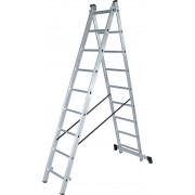 Лестница двухсекционная 2х 9 алюм Новая Высота NV100