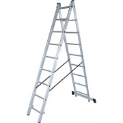 Лестница двухсекционная 2х 9 алюм Halta NV100