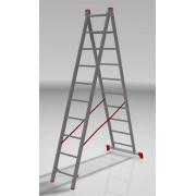 Лестница двухсекционная 2х10 алюм Новая Высота NV100