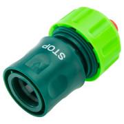 Соединитель для шланга 3/4'' пластик быстросъемный аквастоп VERTO