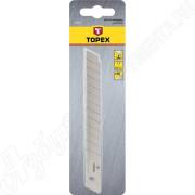 Лезвия сменные для ножей  9мм 12 сегм (10шт) Topex блистер