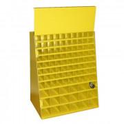 Шкаф для сверл по металлу 98 ячеек (одна дверца) 240х390х460 ЭНКОР