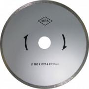 Диск отрезной алмазный сплошной 180х2,2х 5,0х25,4 по керамике ЭНКОР для К-463 1/50