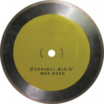 Диск отрезной алмазный 254х1,8х 5,0х16,0 по керамике ЭНКОР сплошной для К-467 1/20