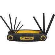 Набор ключей шестигранников  8шт. T 9-T40 Torx Topex пластик/ручка складные