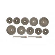 Круги отрезные 16,20,22,25,30мм с алмазным напылением хв.3мм FIT 12шт.