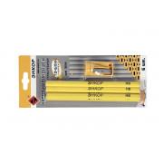 Набор строительных карандашей 6 ед. с точилкой ЭНКОР