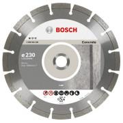 Диск отрезной алмазный сегментный 115х2,0х 7,0х22,2 по бетону BOSCH Pf Concrete 2608602196