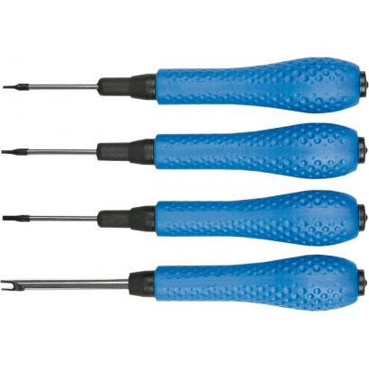Набор отверток часовых  4пр. пласик/ручки Top tools блистер