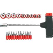 Отвертка со вставками (битами) и головками 21пр. Top tools блистер
