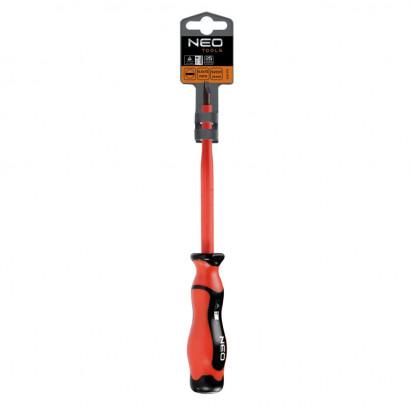 Отвертка шлицевая диэлектрическая SL 1.0х5.5х125 мм двухкомп/ручка Topex
