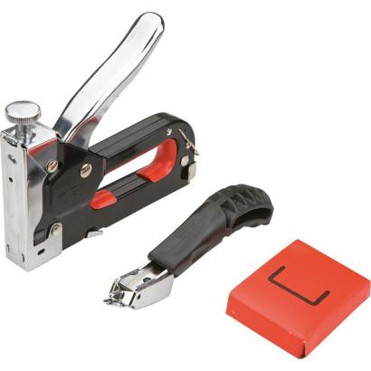 Степлер ручной тип  53 скобы 6- 8 мм и скободер метал/корп регулир/удара Top tools