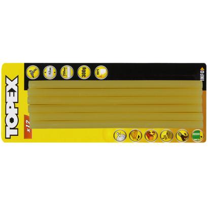 Стержень клеевой 11х250мм, черный, Topex 12 шт, 300 гр
