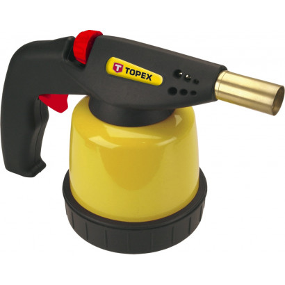 Лампа паяльная 0,19л газовая, пьезозажигание Topex
