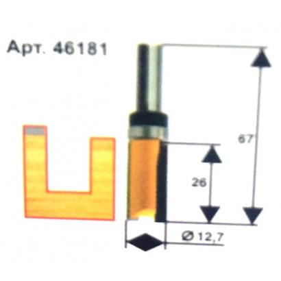Фреза по дереву кромочная прямая ф12.7х26 твердосплав ц/хв 8 ЭНКОР ПРОФ бокс 10534