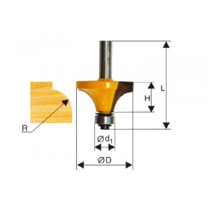 Фреза по дереву кромочная калевочная Ø50.8х25 R19.0 твердосплав ц/хв 12 ЭНКОР ПРОФ бокс 10542