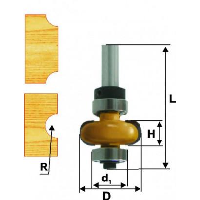 Фреза по дереву кромочная галтельная Ø22.3х6.35 R3.2 твердосплав ц/хв 8 ЭНКОР ПРОФ бокс 10694