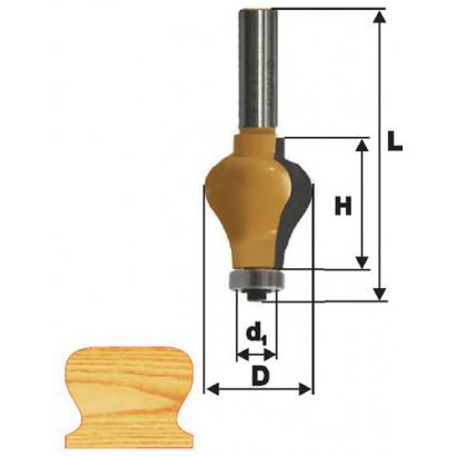 Фреза по дереву кромочная фигурная для перил ф32х38 твердосплав ц/хв 12 ЭНКОР ПРОФ бокс 10681