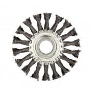 Щетка для УШМ дисковая ф22,2/115 мм VMX ЭНКОР сталь/витая