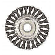 Щетка для УШМ дисковая ф22,2/125 мм VMX ЭНКОР сталь/витая