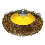 Щетка для УШМ дисковая выгнутая М14/100 мм ЭНКОР сталь/гофрир
