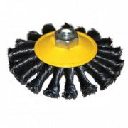 Щетка для УШМ дисковая выгнутая М14/115 мм ЭНКОР сталь/витая