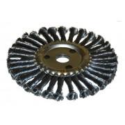 Щетка для УШМ дисковая ф22,2/115 мм ЭНКОР сталь/витая