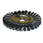 Щетка для УШМ дисковая ф22,2/150 мм ЭНКОР сталь/витая