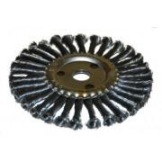Щетка для УШМ дисковая ф22,2/178 мм ЭНКОР сталь/витая