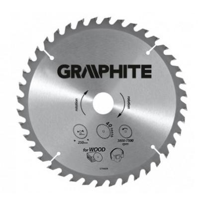 Диск пильный  ф185х30 z40 по дереву GRAPHITE (ТЛ)
