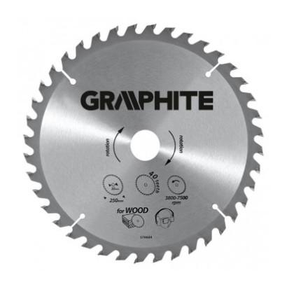 Диск пильный  ф200х30 z60 по дереву GRAPHITE (ТЛ)