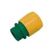 Соединитель для шланга 3/4'' пластик быстросъемный внешняя резьба PALISAD Lux