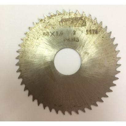 Фреза по металлу дисковая отрезная ф 63х1,0 Р6М5 МИЗ