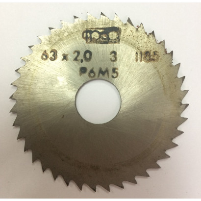 Фреза по металлу дисковая отрезная ф 63х2,0 Р6М5 МИЗ