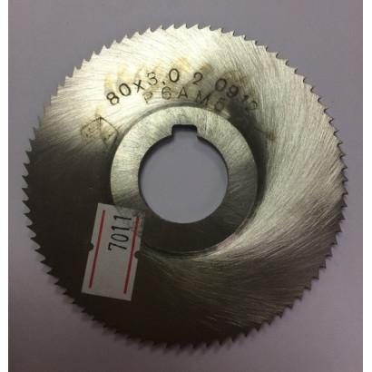 Фреза по металлу дисковая отрезная ф 80х3,0 Р6М5 МИЗ