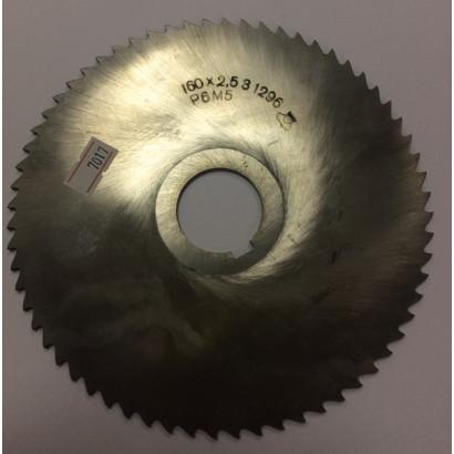 Фреза по металлу дисковая отрезная ф160х2,5 Р6М5 МИЗ