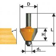 Фреза по дереву кромочная конусная ф44.5х23 45° твердосплав ц/хв 8 ЭНКОР бокс