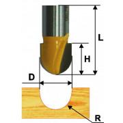 Фреза по дереву пазовая галтельная Ø 9.5х10 R4.8 твердосплав ц/хв 8 ЭНКОР бокс