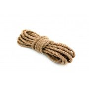 Веревка крученая лубяное волокно 10мм 10м СИБРТЕХ