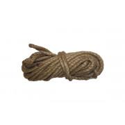 Веревка крученая джут 8мм 10м СИБРТЕХ