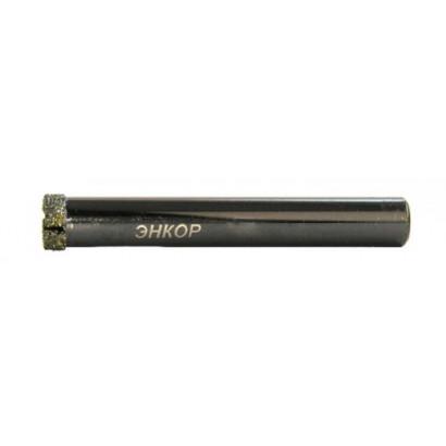 Сверло по керамограниту ф10 мм ц/хв ЭНКОР алмазное