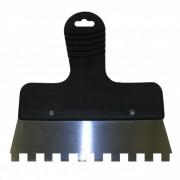 Шпатель зубчатый 200мм зуб 10х10 пласт/ручка, сталь ЭНКОР