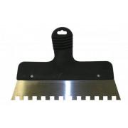 Шпатель зубчатый 250мм зуб 10х10 пласт/ручка, сталь ЭНКОР